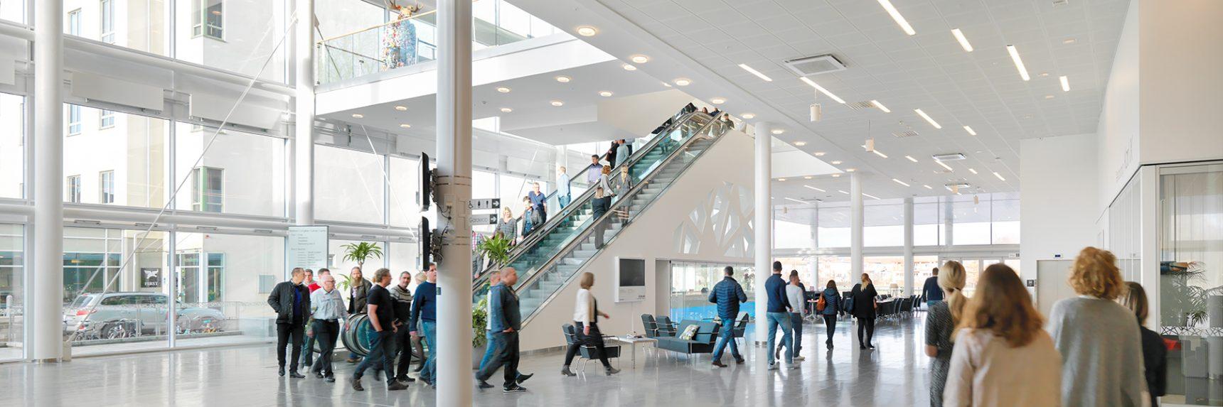 Entréplan på Karlstad CCC. Arrangera kongress, konferens eller event.