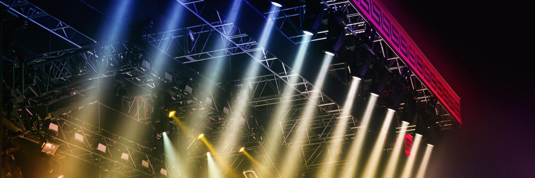 Bild på scenljus