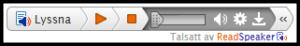 Skärmdump av den expanderande spelaren