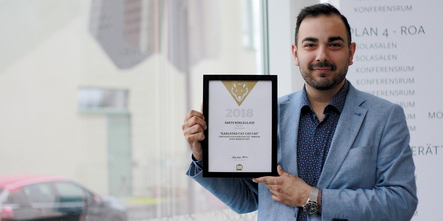 Guldvargen 2018 - Arman Teimouri, kommunikationschef