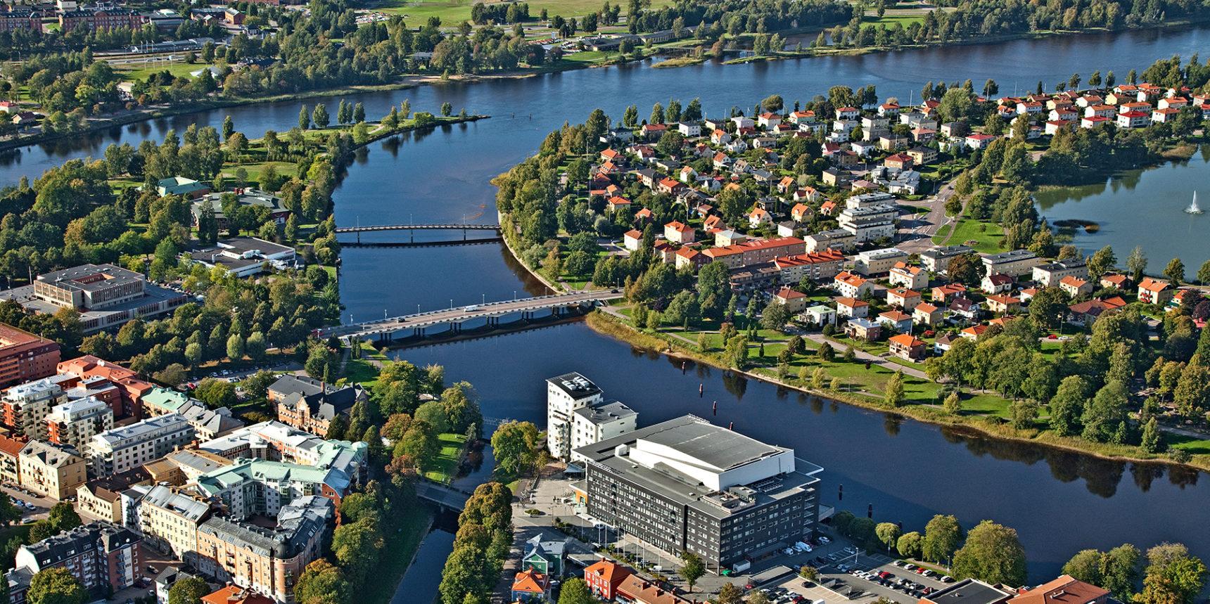 Destination Karlstad från ovan