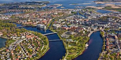 Flygbild över Karlstad